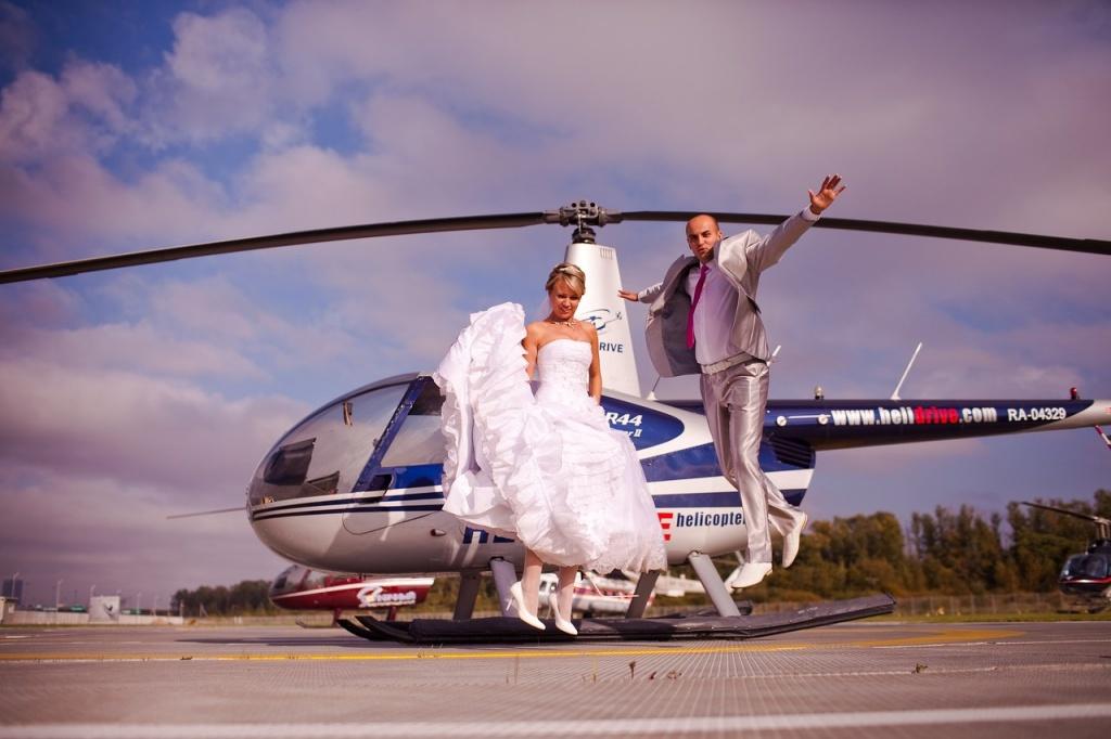 Снять вертолет в питере на свадьбу